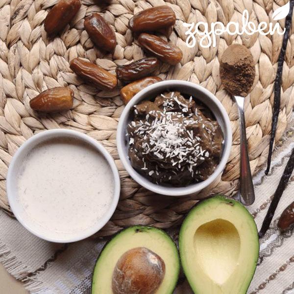 Авокадо пудинг