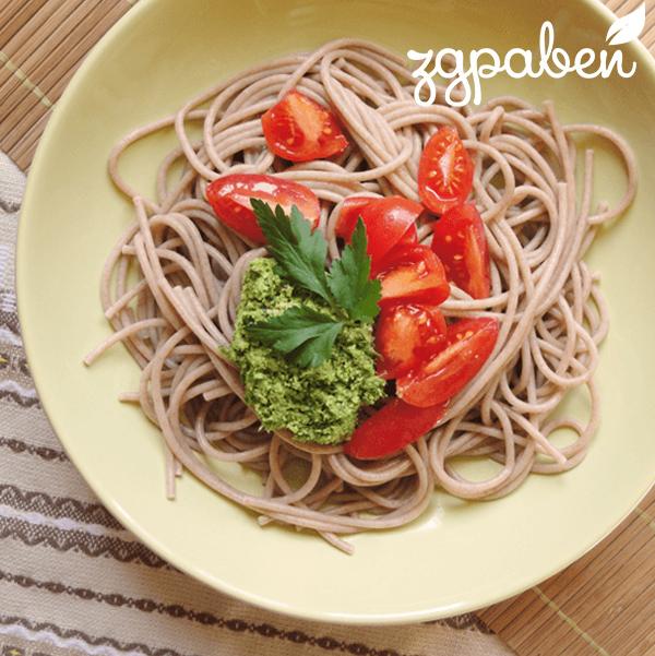Ръжени Спагети с Песто